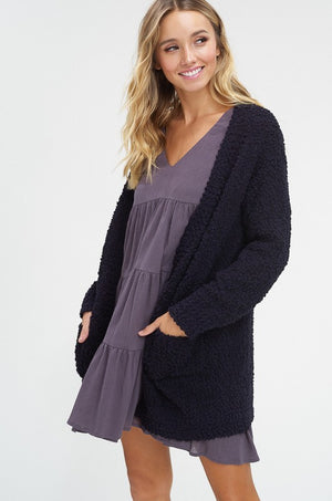 Chunky Knit Cardigan - Blush Boutique