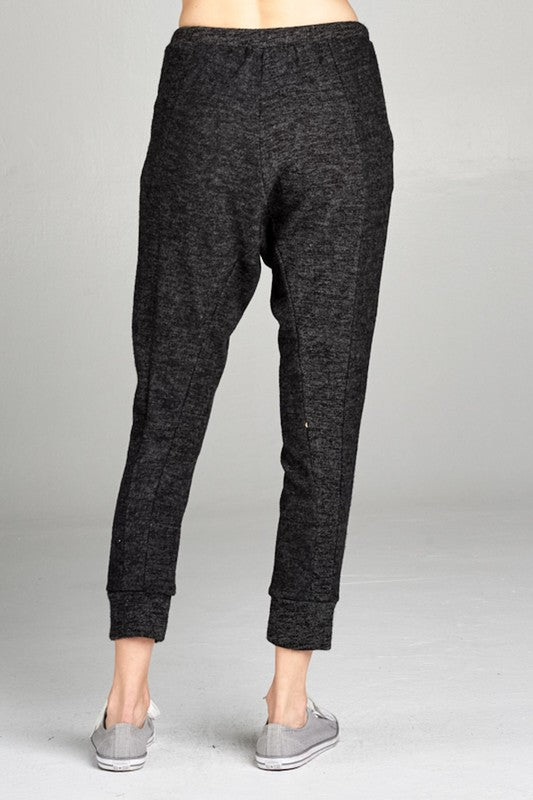 Brushed Drawstring Joggers - Blush Boutique