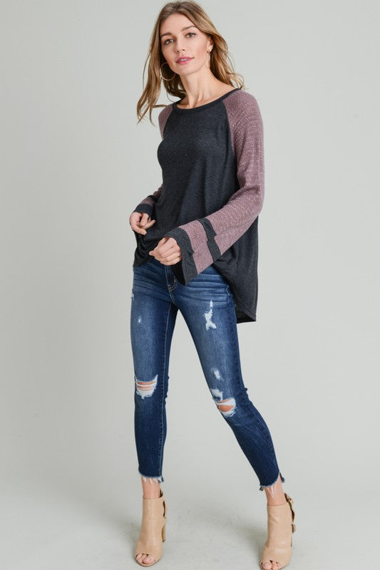 Wide Sleeve Top - Blush Boutique