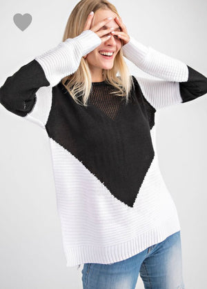 Color Block Sweater - Blush Boutique