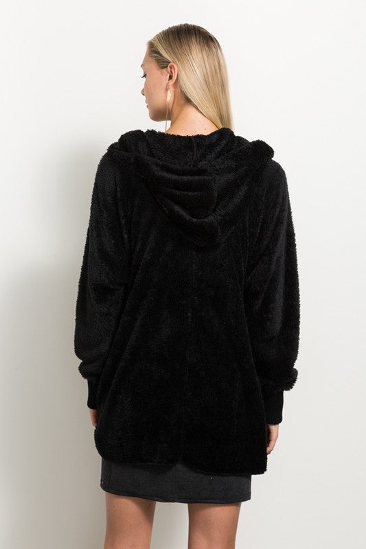 Black Bear Coat - Blush Boutique