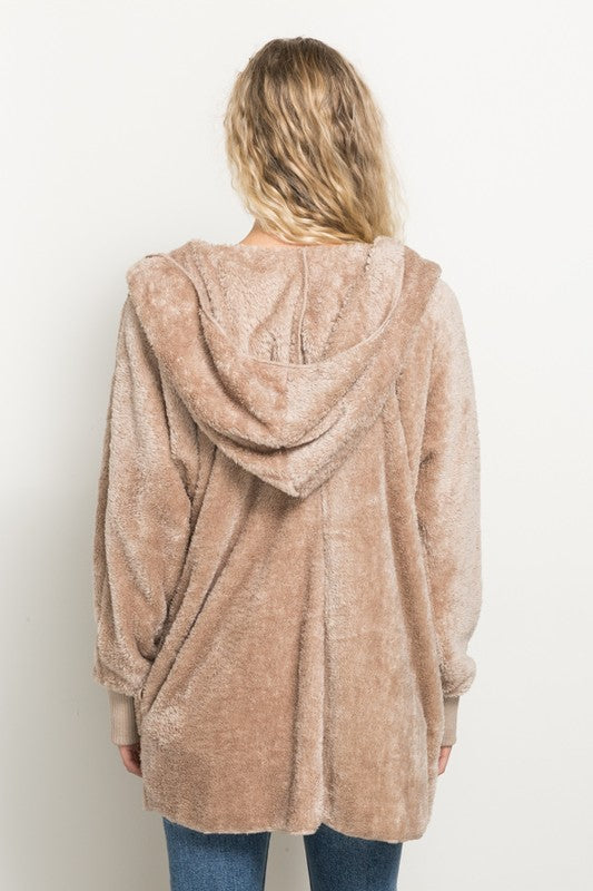 Taupe Bear Coat - Blush Boutique