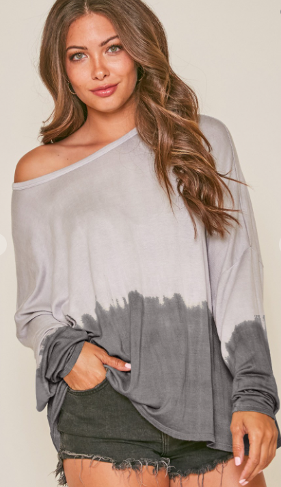 Ombre Dip Dye Knit Top