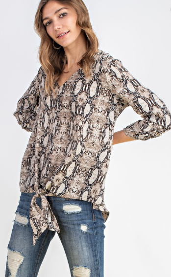 Snake Print Top - Blush Boutique