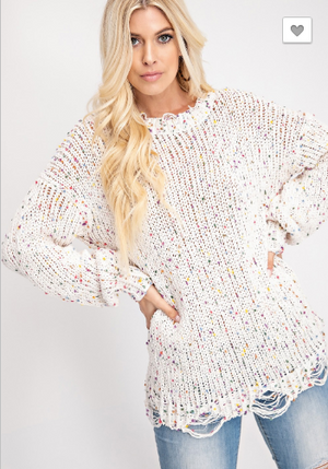Distressed Multicolored Sweater