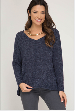 Brushed Knit Top - Blush Boutique