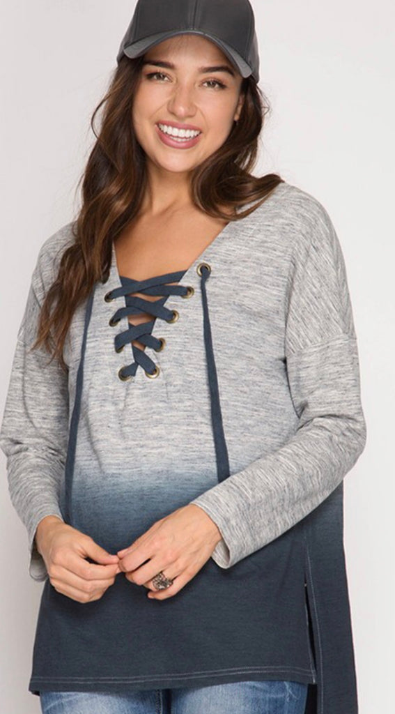 Ombre Hooded Sweatshirt - Blush Boutique