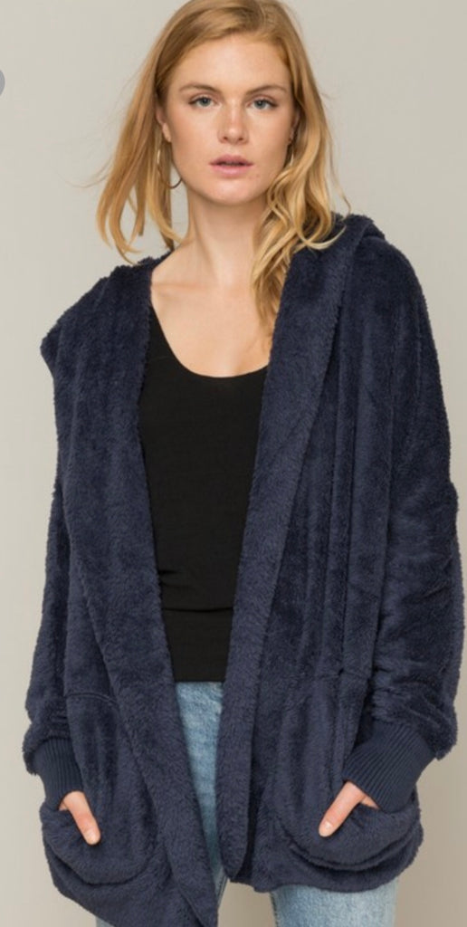 Navy Bear Coat-Preorder - Blush Boutique