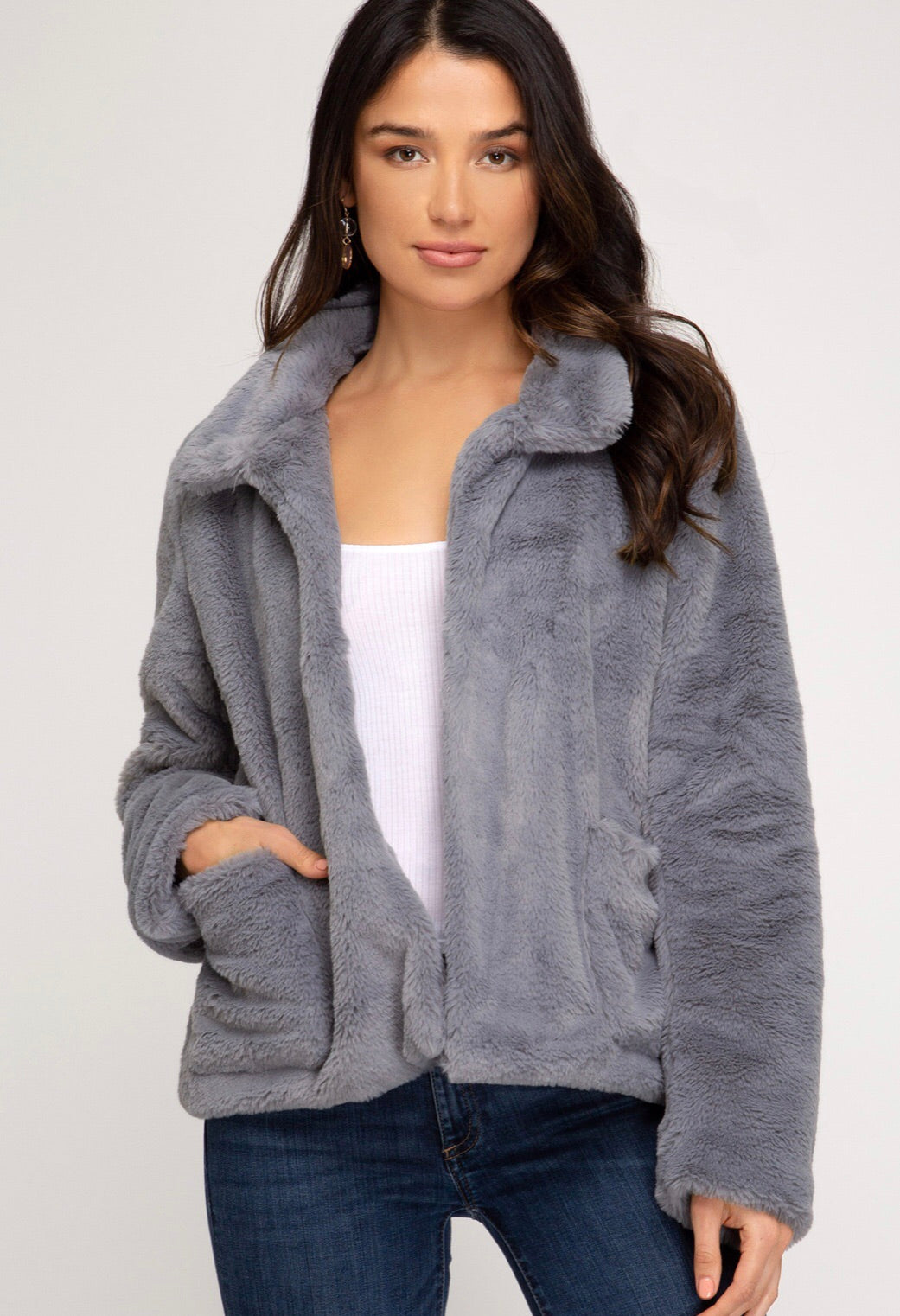 Cropped Bear Jacket Preorder - Blush Boutique
