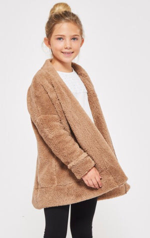 Girls Bear Coat - Blush Boutique