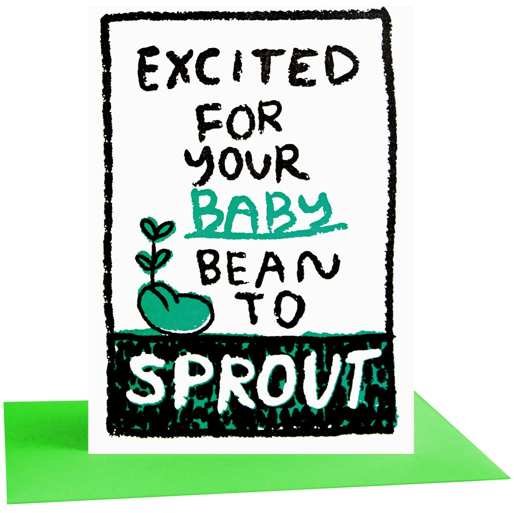 BEAN SPROUT BABY CARD