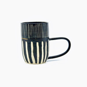 LITTLE BEAR POTS - BLACK STRIPE MUGS