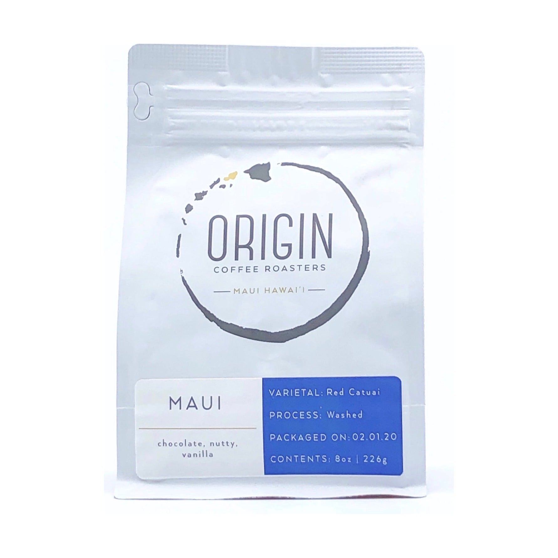 ORIGIN MAUI ROASTED  12 OZ COFFEE