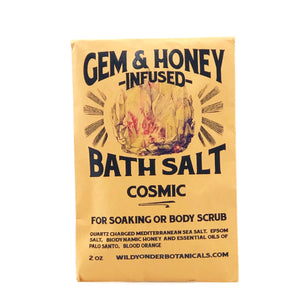 GEM & HONEY WILD BOTANICALS NATURAL BATH SALTS