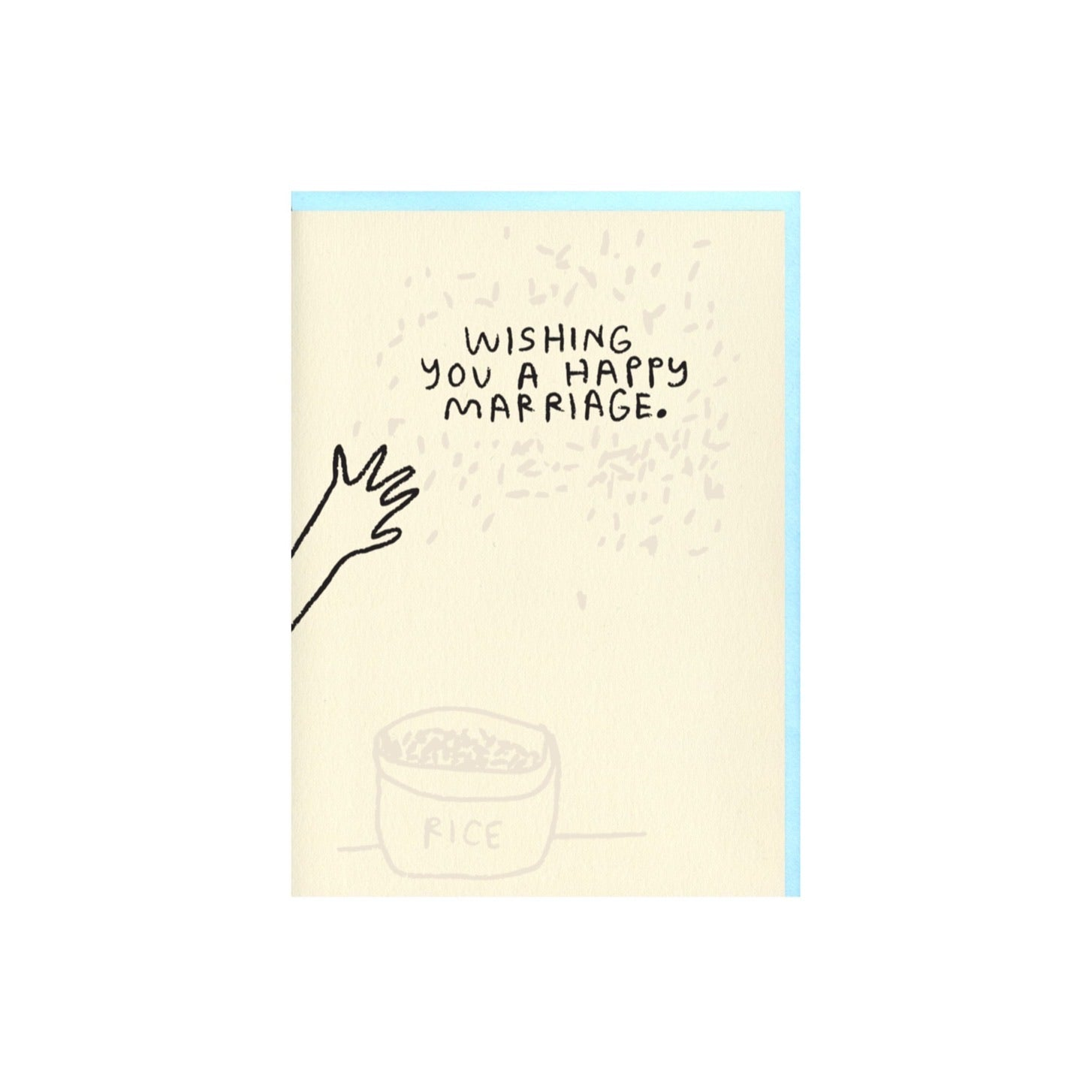 RICE HAPPY MARRIAGE CARD