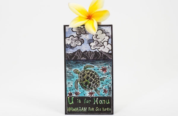 WOODBLOCK MAGNETS BY LOCAL MAUI ARTIST