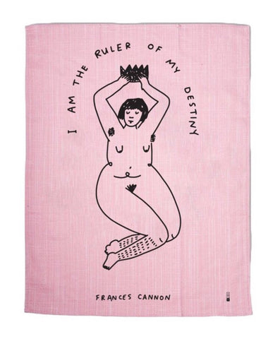 I AM THE RULER OF MY DESTINY TEA TOWEL