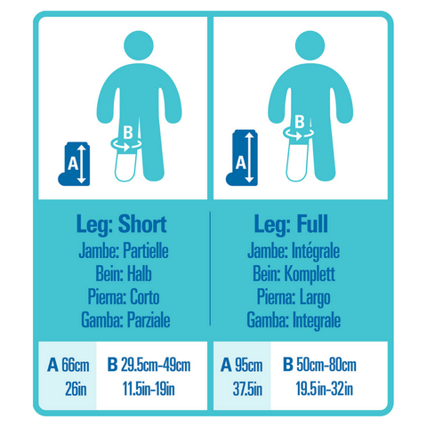 Bloccs NZ Adult Waterproof Leg Cover Sizing Guide