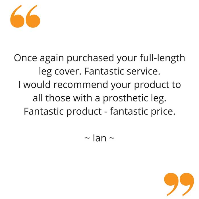 Ian's full leg waterproof cast cover feedback