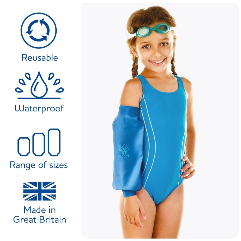 Features of the bloccs waterproof elbow covers for children