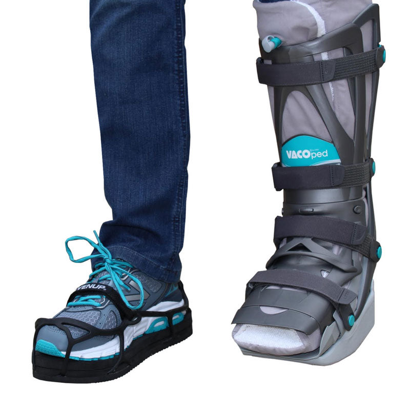 Evenup shoe balancer for walking boots