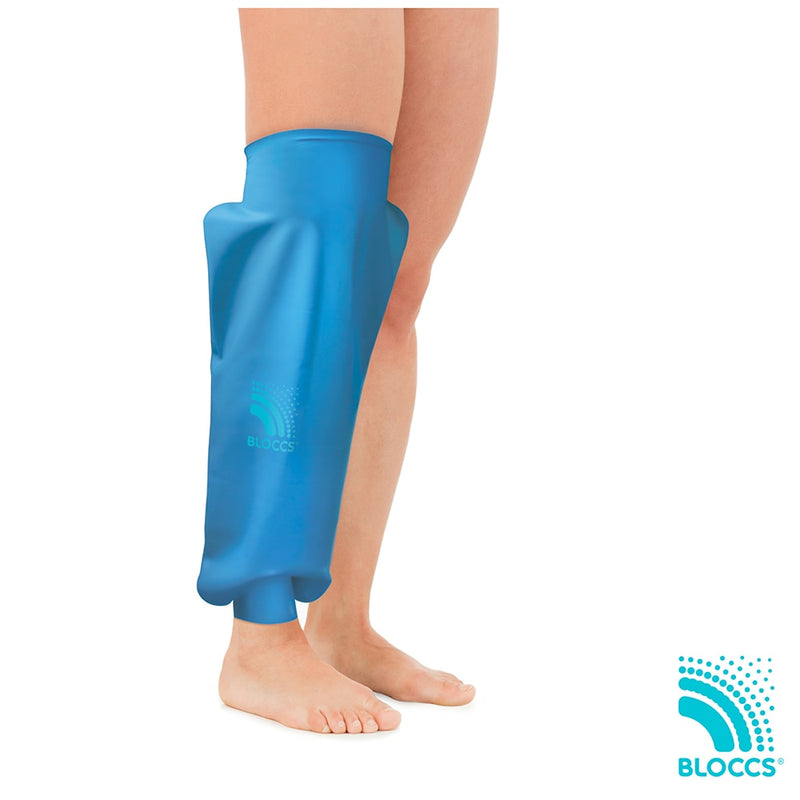 woman wearing a bloccs waterproof knee protector