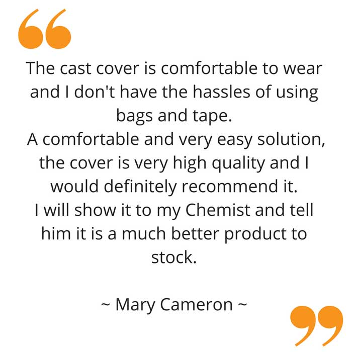 Mary's waterproof full leg cast cover feedback