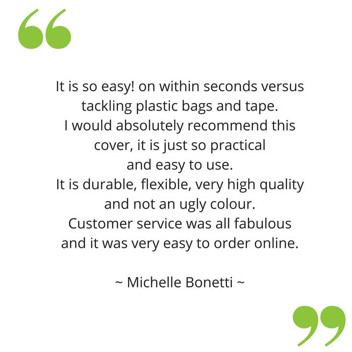 Michelle's feedback on her bloccs waterproof sleeve for arm cast