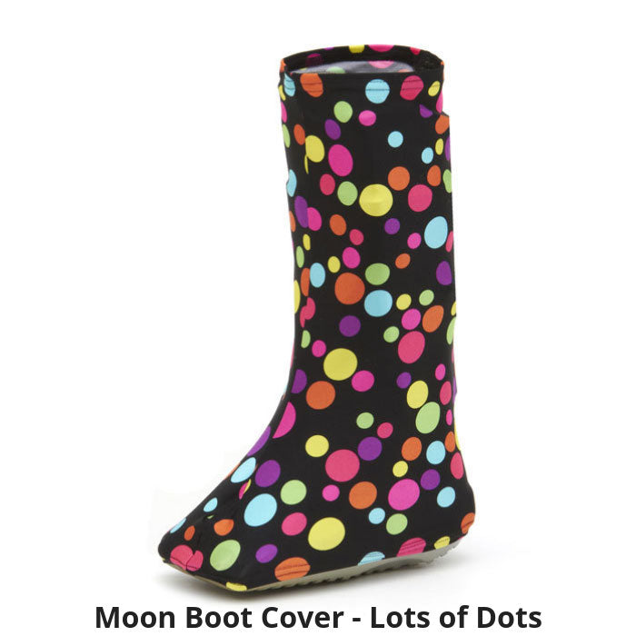 Moon Boot Cover in Lots of Dots