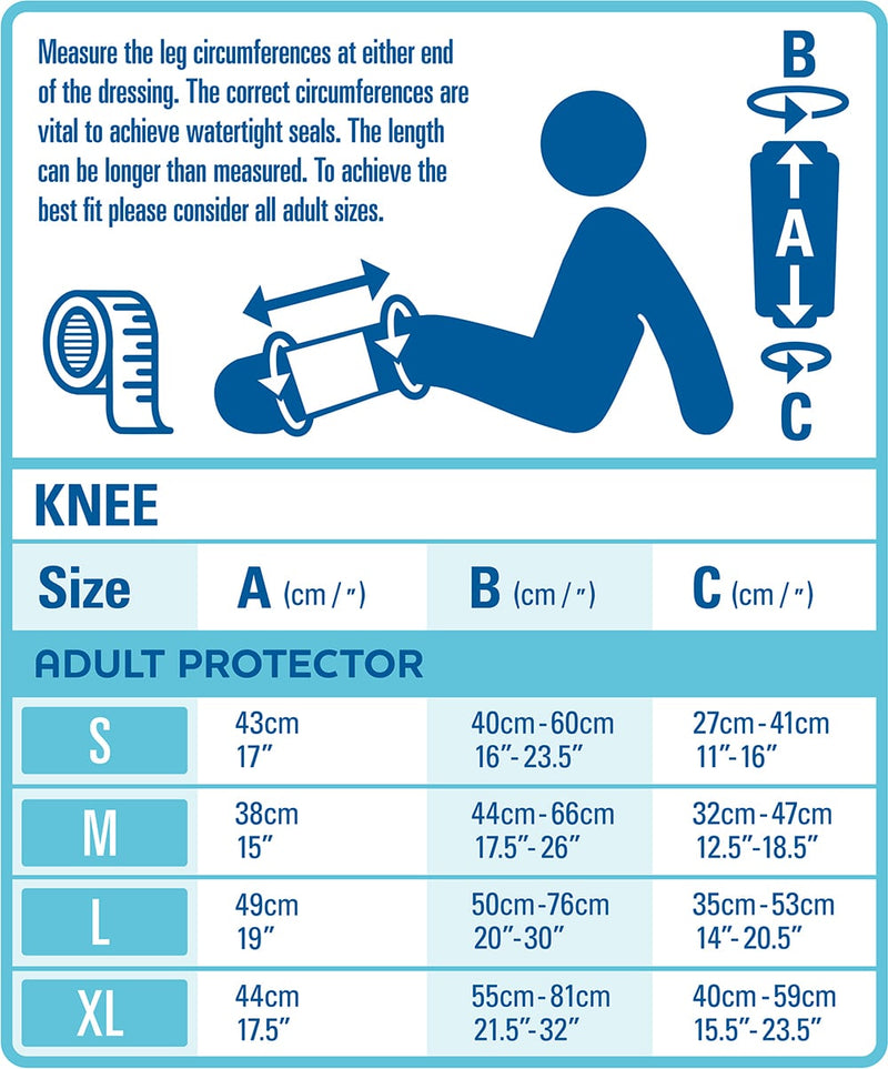 bloccs knee protector sizing guide