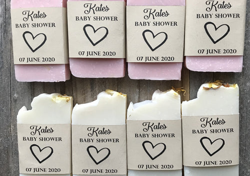 Soap Favours 32 for Wedding/Baby Showers/Special Events - 32 Personalised Labels