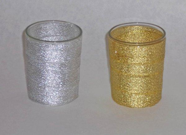 12 GOLD OR SILVER VOTIVE CUPS
