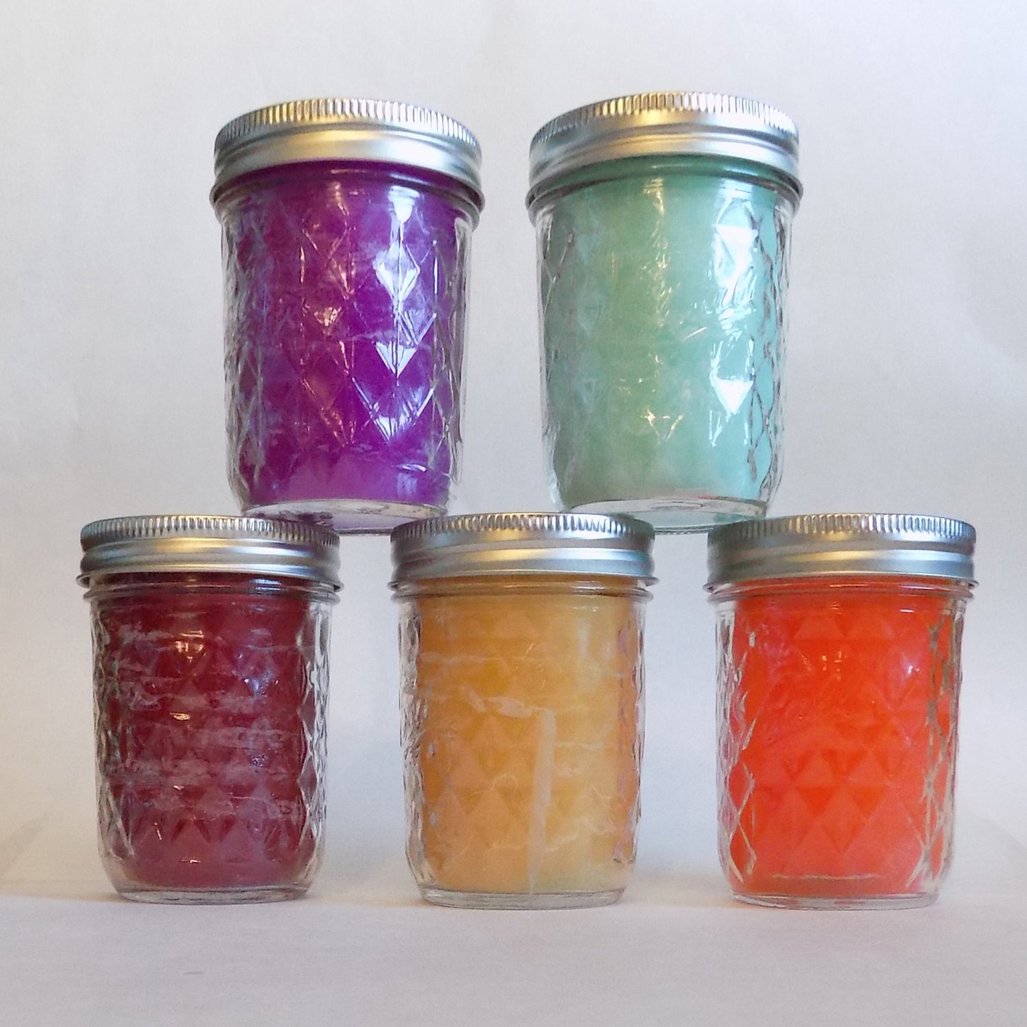 Small Mason Style Jar  Candle - Custom Made Scent and Color to Order
