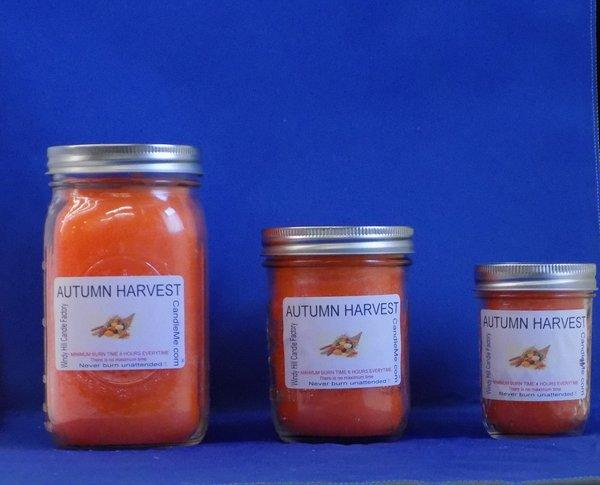 Autumn Harvest Scented Jar Candle