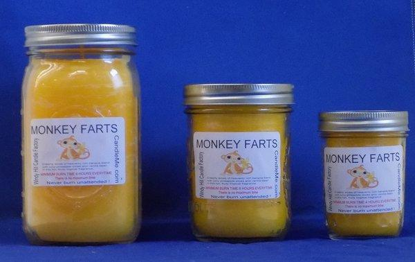 Monkey Farts Scented Jar Candle
