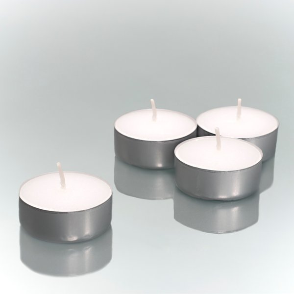 One Case (500ct-bulk) Tealights - metal cups