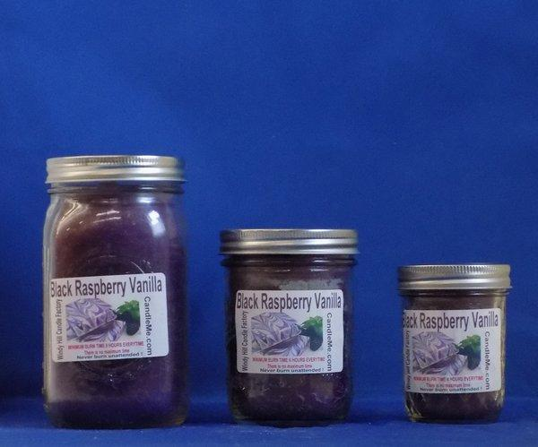 Black Raspberry Vanilla Scented Jar Candle