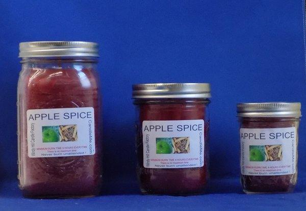 Apple Spice Scented Jar Candle