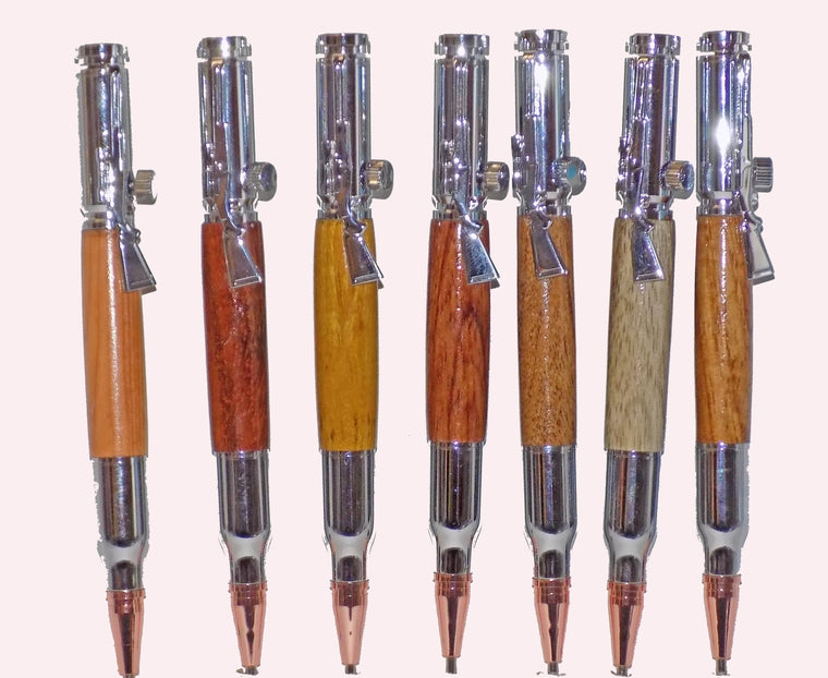 Hand Made 30 Caliber Lock-n-Load Bullet Pens with Carry Case - INCLUDES Shipping!