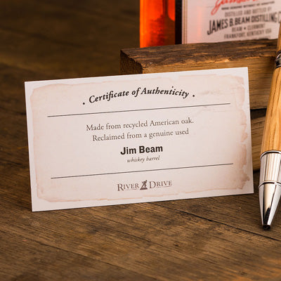 Jim Beam Whiskey Barrel Pen w/ Authenticity Certificate