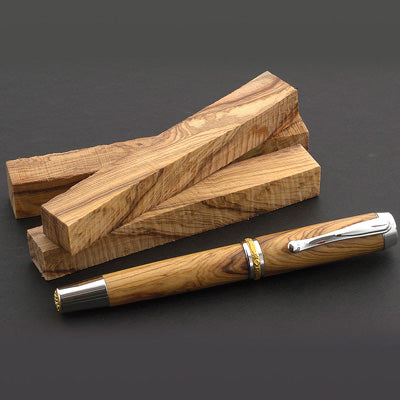 Hand Made Pens with Olive Wood from the Holy Land