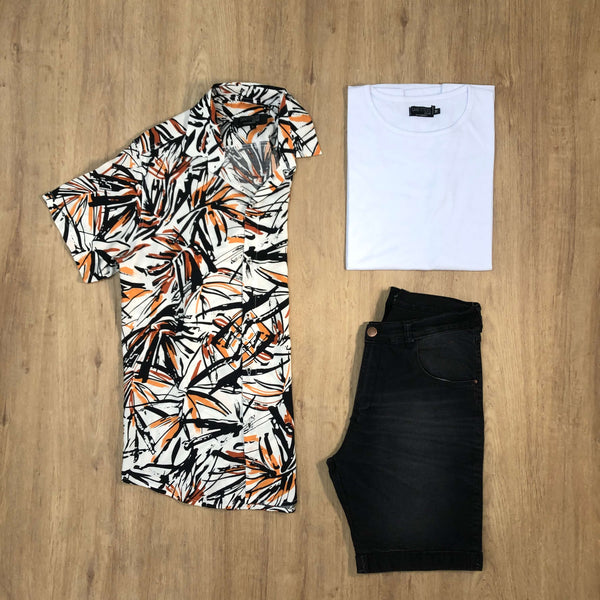 Outfit SNF 648 Bermuda Black - Camisa Savanna - Remera Basic
