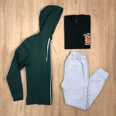 Outfit 520 - Jogger Mel - Campera Green - Remera Black est
