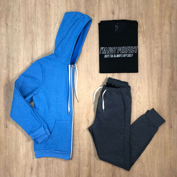 Outfit 529 - Jogger Grey - Campera Sky - Remera Black est