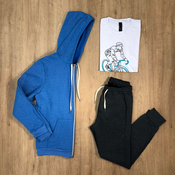 Outfit 533 - Jogger Grey - Campera Sky - Remera Est Basic