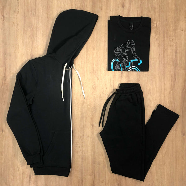 Outfit 541 - Jogger Black - Campera Black - Remera Black est