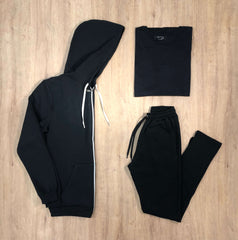 Outfit 542 - Jogger Black - Campera Black - Remera Black