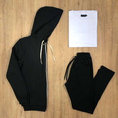 Outfit 545 - Jogger Black - Campera Black - Remera Basic