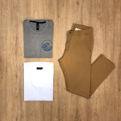 Outfit 563 - Jean Chino Camel - Remera Basic - Remera Est Mel