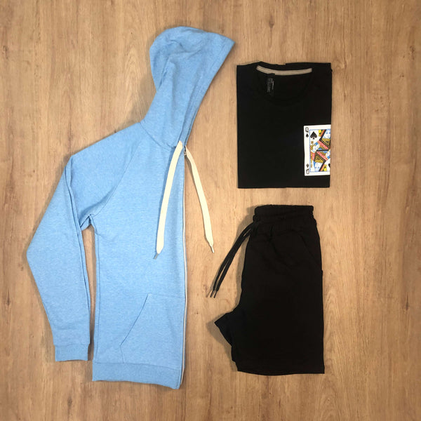 Outfit SNF 604 - Short Black - Campera Sky - Remera Est Black